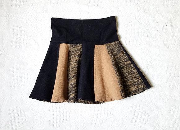 Wool Mini Twirly Skirt size S-M