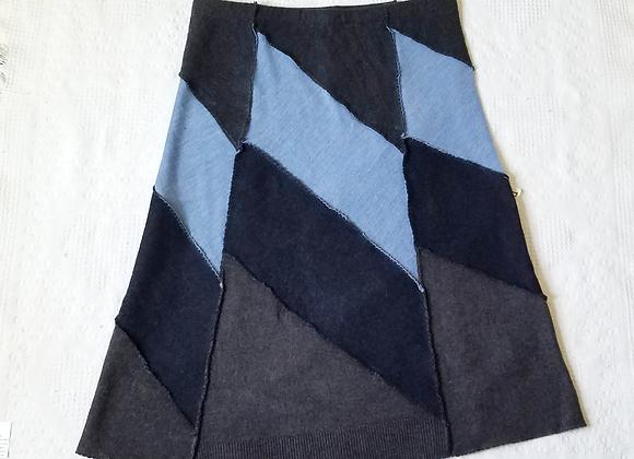 Wool Midi Skirt size L