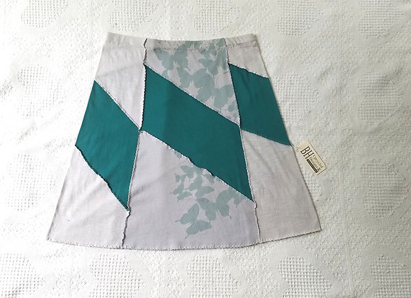Green and Gray Butterfly Skirt M
