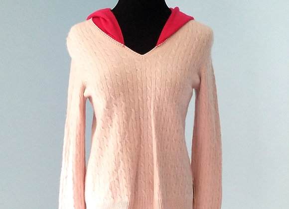 Double Pink Cashmere Hoodie size S