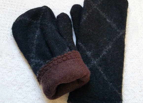 Cashmere-Lined Mittens Medium Weight