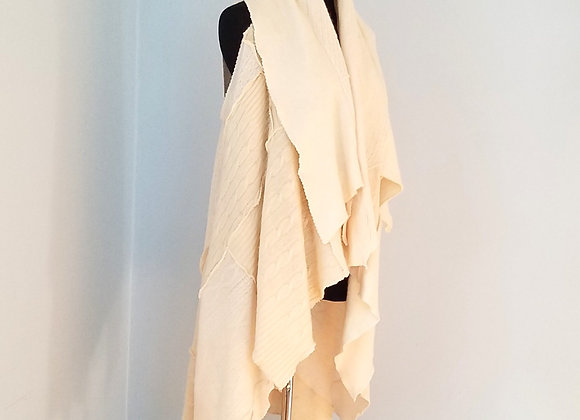 White on White Cashmere Duster
