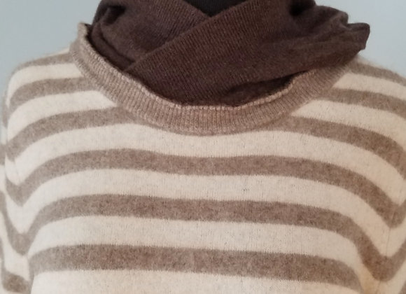 Brown and Cream Stripey Hoodie