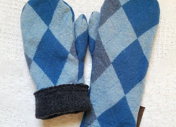 Cashmere-Lined Mittens Medium Weight