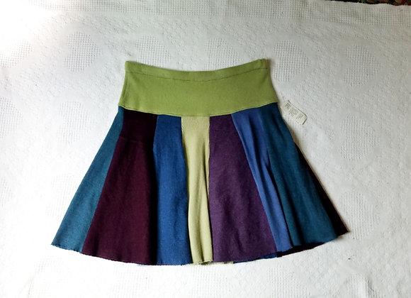 Wool Knee Length Twirly Skirt size L