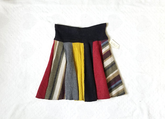 Wool Knee Length Twirly Skirt size M