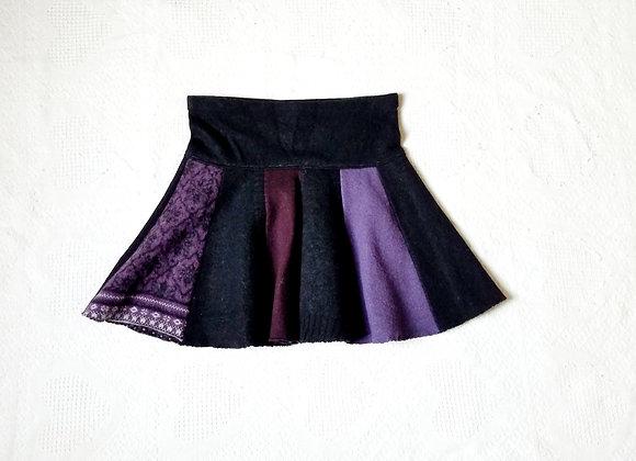 Wool Mini Twirly Skirt size M