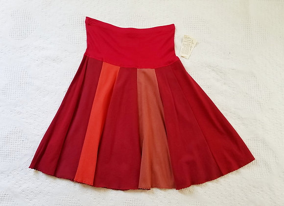 Bright Reds Twirly Skirt size S