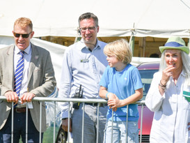Chatting with the expert Adam Henson at The Three Counties Show
