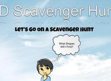 2D Scavenger Hunt- Let's Find The Shapes