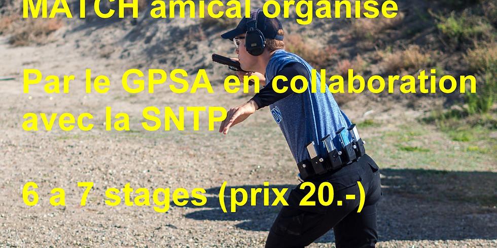 Match amical (15) organisé par le GPSA en collaboration avec la SNTP
