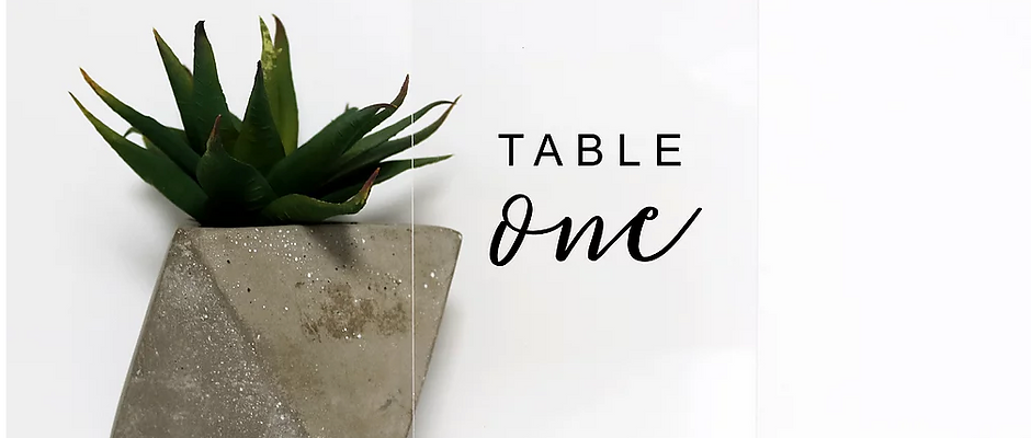 Table Number for Justine
