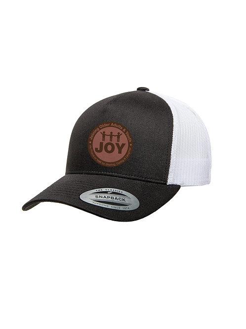 Joy Laser Engraved Leather Patch Hat