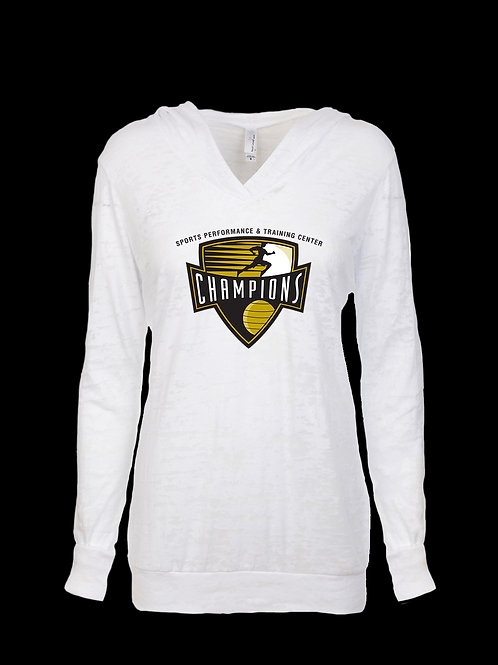 Ladies Champions Logo Burnout