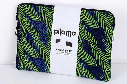 "Housse Pijama pour Mac book pro 16"" feuilles bleues"