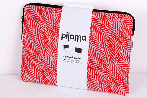 """Housse Pijama pour Mac book pro 16"""" feuilles rouges"""