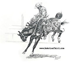_Hang On Cowboy__11x14_ pencil drawing__