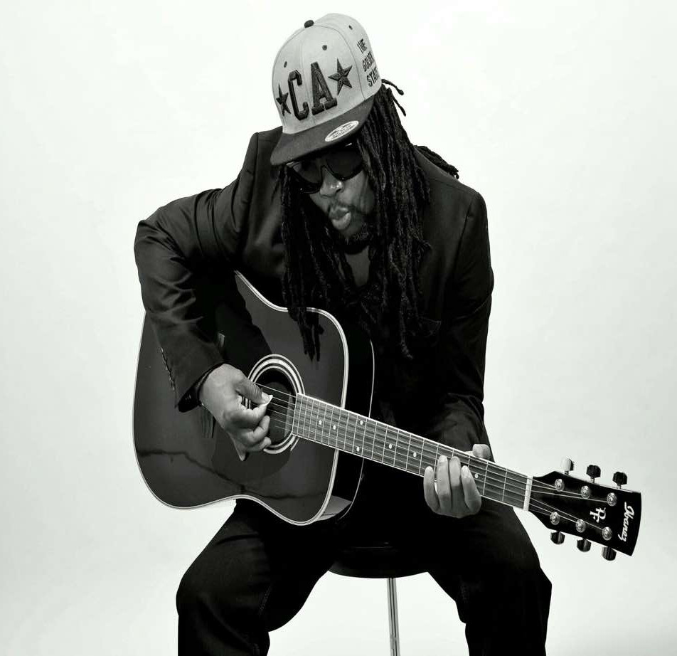 Black Ice Playing Guitar