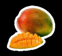 Geschnittene reife Mango