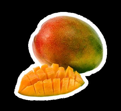 Mango maduro en rodajas