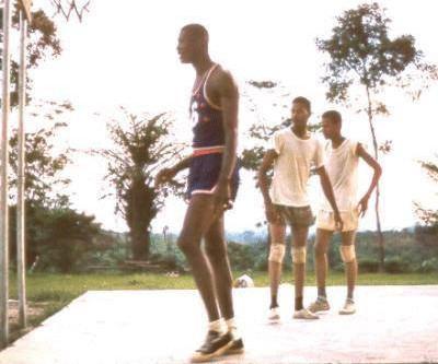 Boston Celtics Bill Russel visits Liberia 1961