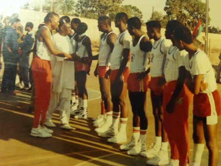 Team Captain Verdier introduces LU's 1989 Squad in Burkina Faso.