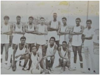 University of Liberia Basketball Squad - 1970