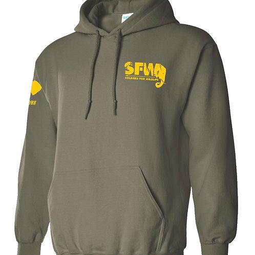 Soldiers for Wildlife Yellow Font Anti-Poaching Sweatshirt