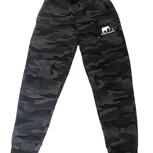 Soldiers for Wildlife Black Camo Joggers