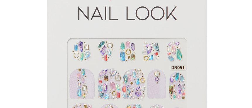 Round Shape Color Stone Nail Sticker