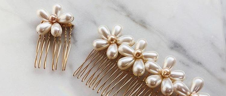 Pearl Flower Hair Pin