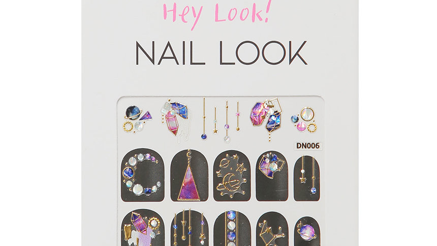 Moon Color Stone Nail Sticker