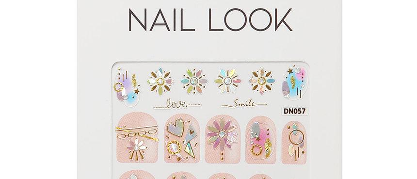 Mirror Flower Nail Sticker