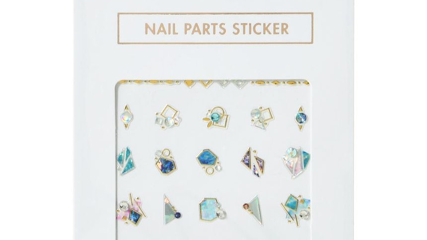 Blue Stone Nail Sticker