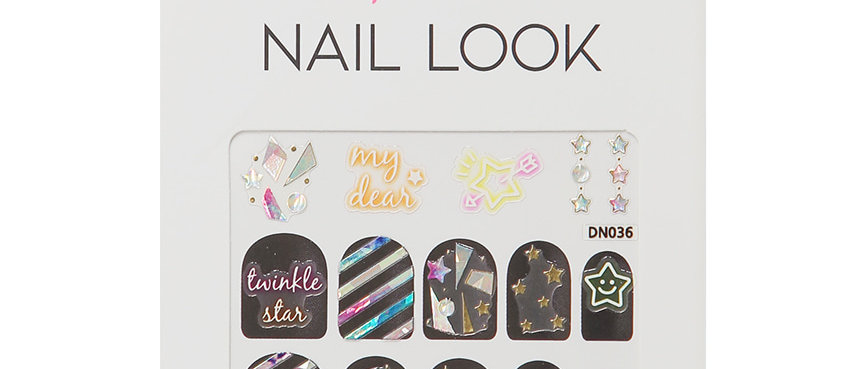 Colorful Star Nail Sticker