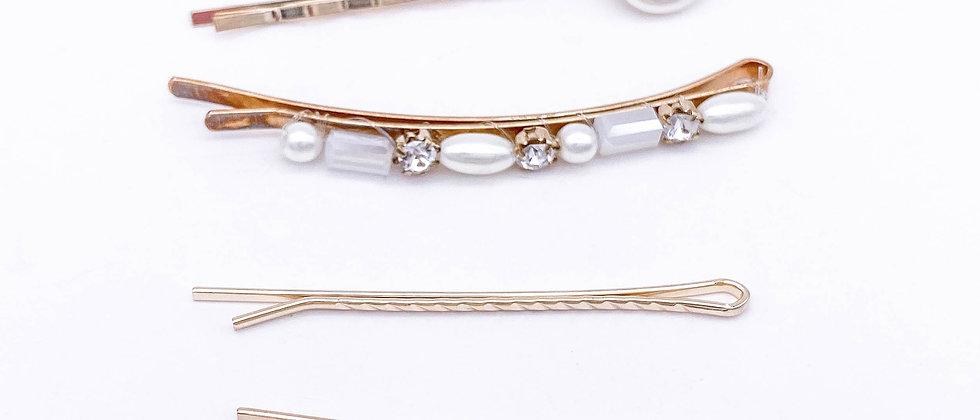 Set of 4 Pearl Bobby Pins
