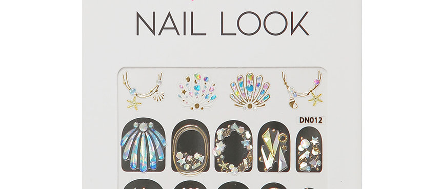 Color Shell Nail Sticker