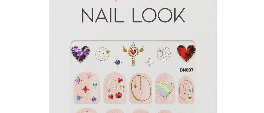 Color Heart Nail Sticker