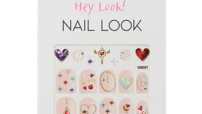 Color Heart Nail Sticker