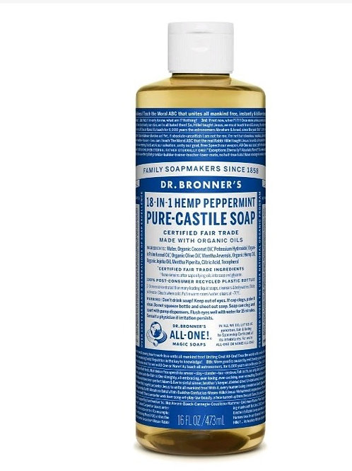 Dr.Bonner 18-in-1 Hemp Peppermint Pure Castle Soap