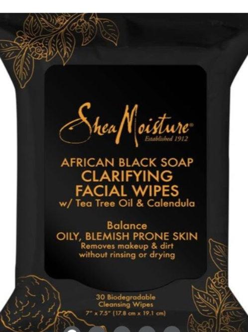 Shea Moisture African Black Soap Clarifying Facial Wipes