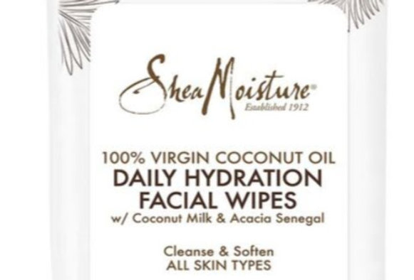 100%VIrgin Coconut Oil Daily Hydration Facial Wipes