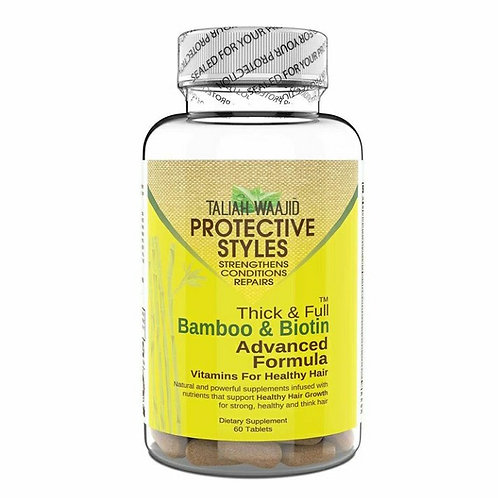 Taliah Waajid Protective Styles Bamboo and Biotin Vitamins for Healthy Hair