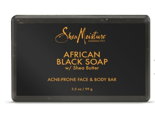 African Black Soap w/ Shea Butter Acne-Prone Face & Body Bar