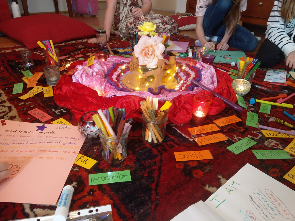 Friendship circle art activity - I am visionboard