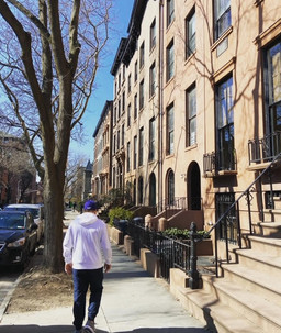 Taking a walk in our neighborhood.