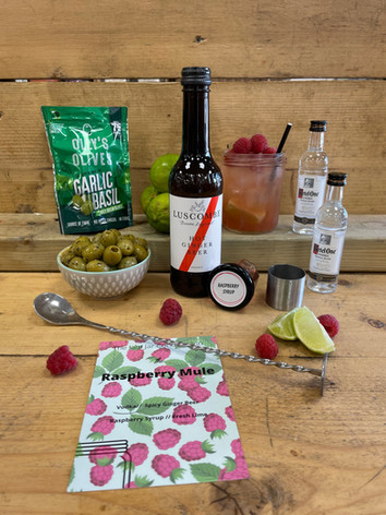 Raspberry Mule (snacks can be added at checkout