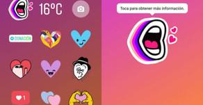 ¡Personalice Instagram usando stickers!