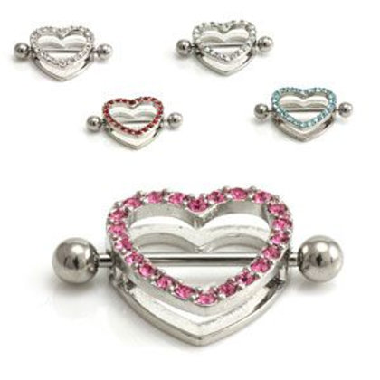 Gem Heart Nipple Shield