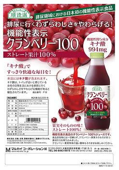 順造選 機能性Cranberry100 ちらし INR61115-00-01.j
